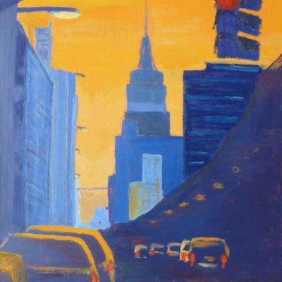 Couché du soleil sur l'Empire State Building (51x76)2012v