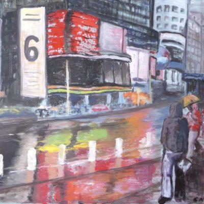 NY la nuit sous la pluie (61x50)2009v